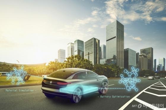 자동차 배터리 수명예측 등을 위해 양자컴퓨팅 기술을 활용한 폭스바겐과 구글의 협업기술 소개 이미지/사진제공=폭스바겐 공식 홈페이지