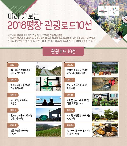 미리 가보는 2018평창 관광로드 10선/사진=한국관광공사 홉페이지