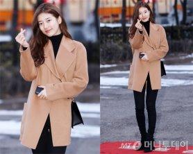 """수지 출근길 패션, 카멜 코트 스타일링…""""민낯도 예뻐"""""""