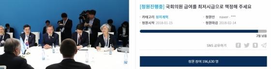 """""""국회의원 시급 7530원 주자""""…靑 청원 20만명 육박"""