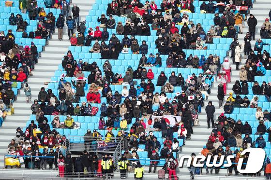 [사진]한파 속 평창올림픽 응원전