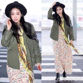"""손나은, 공항 패션 '잇템'은?…""""재킷으로 시크하게"""""""