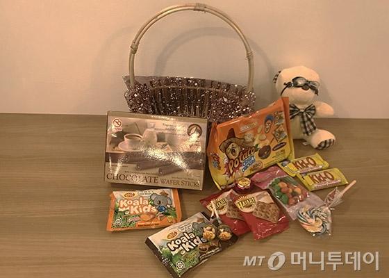 3만5000원짜리 선물 바구니 /사진=김자아 기자