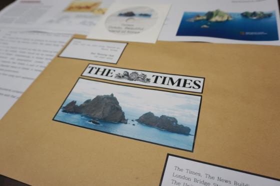 더타임스 편집국장에게 보낸항의서한과 독도관련 영어자료 및 영상CD /사진=서경덕 교수