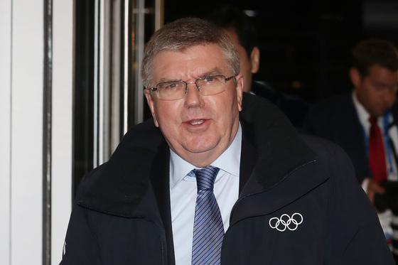 토마스 바흐 IOC 위원장이 지난 4일 강원도 강릉 씨마크 호텔에서 열린 IOC집행위원 만찬에 참석하고 있다. /사진=뉴스1