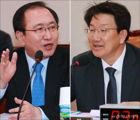 [사진]노회찬 vs 권성동, 의원직 사퇴 설전