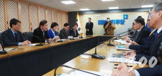 지난달 29일 서울 여의도 더불어민주당 중앙당사에서 열린 고위당정협의회 모습. /사진=이동훈 기자