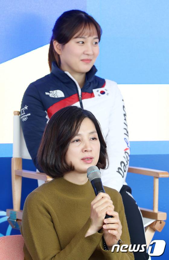 [사진]박승희 선수 어머니 이옥경씨 '우리 딸이 최고야'