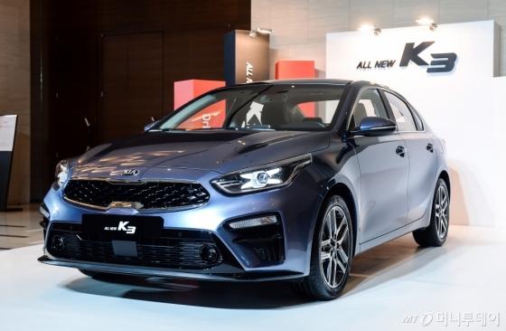 기아자동차는 27일 '올 뉴 K3'의 가격을 확정하고 정식 판매를 시작한다고 밝혔다. /사진제공=기아자동차
