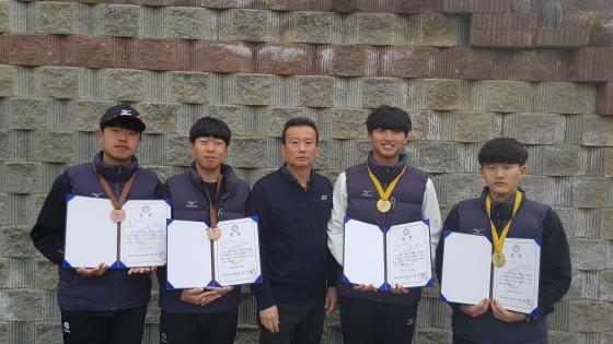 대전대 정구부, 전국대학정구춘계연맹전서 금·동메달