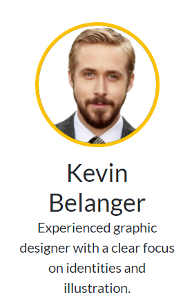미로스키 회사 홈페이지에 등장한 캐나다 출신의 배우 라이언 고슬링. 케빈 벨랑저라는 이름의 '브랜드 이미지 구축과 일러 작업에 탁월한, 경험 많은 그래픽 디자이너'로 소개됐다. /사진=미로스키 홈페이지