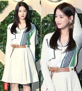 오연서, 산뜻한 봄 패션…큼직한 귀걸이로 '포인트'