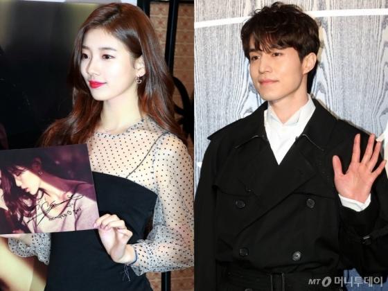 수지(왼쪽), 이동욱