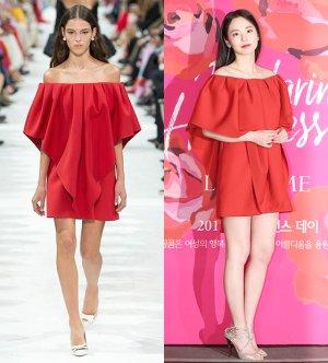 안소희 vs 모델, '오프숄더 원피스' 패션 보니…