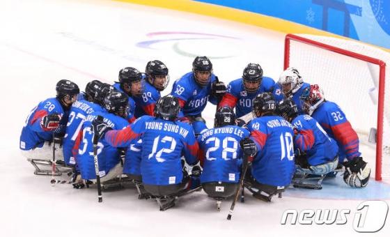 韓 장애인 아이스하키, 평창 패럴림픽 '한일전' 승리