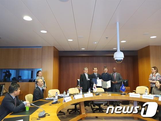 고용노동부, ILO 협력사업 약정서 체결(고용노동부 제공) © News1