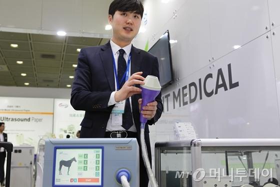 "KIMES2018, 에이치엔티메디칼 ""강아지도 담석 걸려요"""