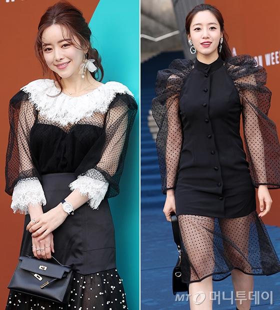 배우 홍수아, 가수 함은정/사진=김휘선 기자