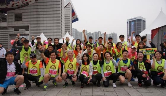 고려사이버대 교우·교직원, 서울국제마라톤대회 참가