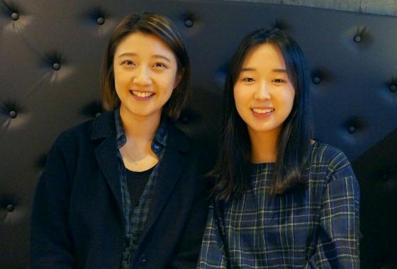 최재은(왼쪽), 김지민 에이드런 공동대표. /사진=서진욱 기자.