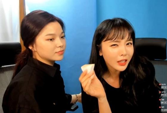 /사진=홍진영 라이브 방송 캡처