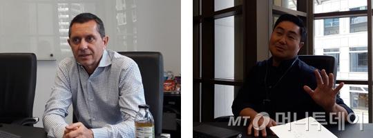 미국 실리콘밸리 벤처캐피탈 파르텍벤처스의 제이 최 파트너(오른쪽)과 니콜라스 엘 베이즈 파트너. /사진=조철희 기자