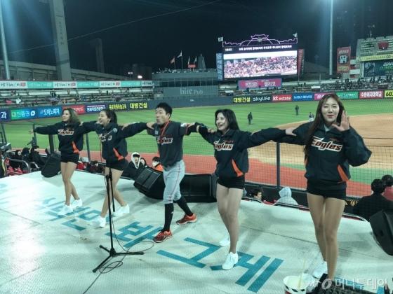 서유림, 목나경, 조연주, 김은빈 치어리더(왼쪽부터)/사진=한지연기자