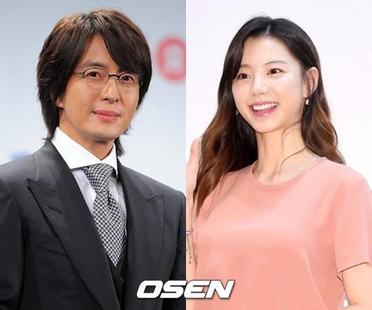 배우 배용준(사진 왼쪽)과 박수진 부부. /사진제공= OSEN