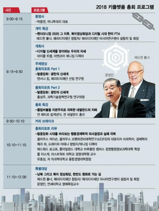 '트럼프 멘토' 퓰너 헤리지티 회장, 머니투데이 키플랫폼 총회서 특강·대담
