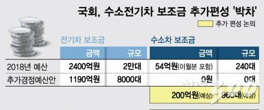 [단독]국회, 추경에 수소차 예산 '200억' 추가한다