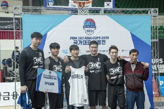 남자 3x3 농구 국가대표팀 /사진=대한농구협회 제공