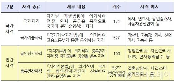 3월말 현재 자격별 현황(자료: 교육부)