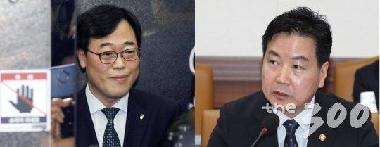 김기식 전 금융감독원장(좌)과 홍종학 중소벤처기업부장관/사진=이동훈 기자
