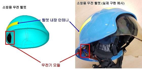 무전기 일체형 헬멧/사진=포스텍