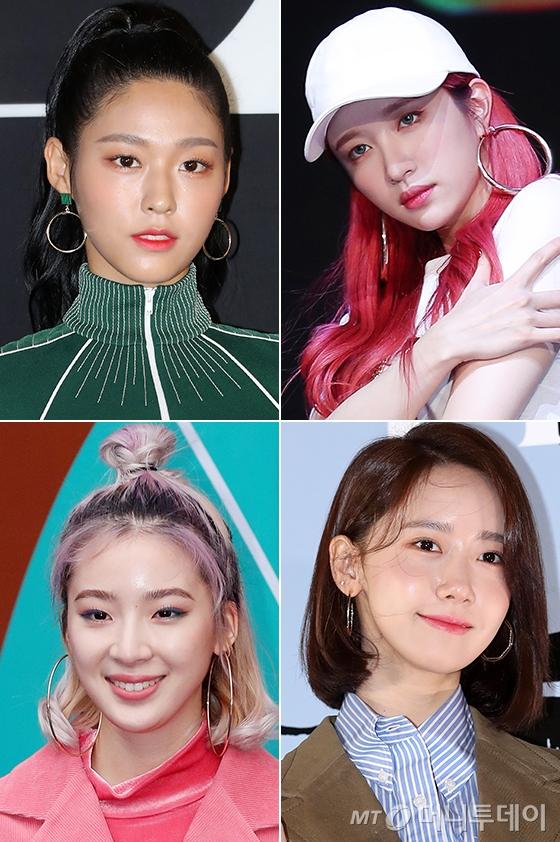 왼쪽부터 시계방향으로 AOA 설현, EXID 하니, 소녀시대 윤아, 모델 아이린. /사진=머니투데이 DB