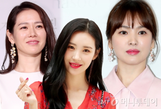 왼쪽부터 배우 손예진, 가수 선미, 배우 송혜교. /사진=머니투데이 DB