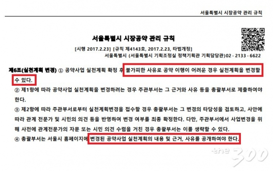 서울시의 공약 관리 조례. /사진=서울시 공약관리규칙