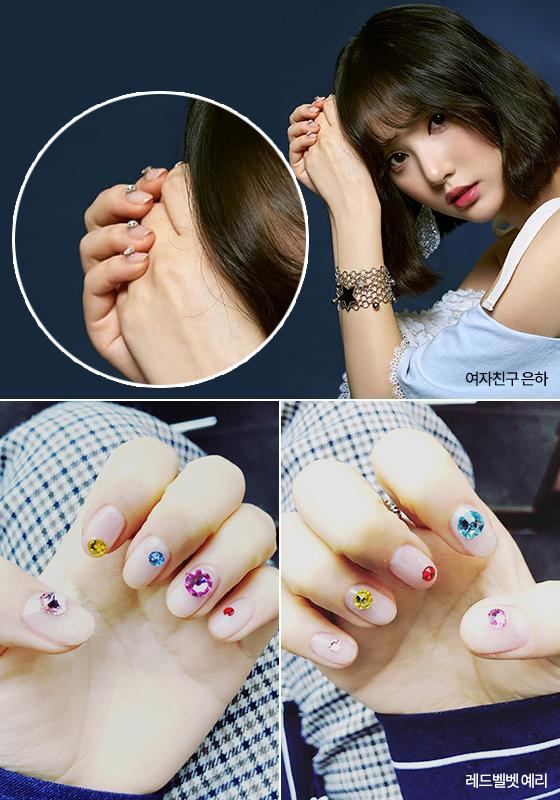 여자친구 은하, 레드벨벳 예리의 네일아트/사진=여자친구, 레드벨벳 공식 인스타그램