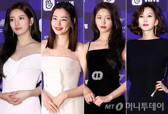 왼쪽부터 수지, 이하늬, 설현, 김남주. /사진=김휘선 기자