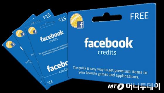 2009년 페이스북이 도입한 가상통화 '크레딧'