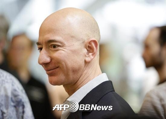 전 세계 재산 보유 랭킹 1위를 차지한 제프 베조스 아마존 CEO. /AFPBBNews=뉴스1