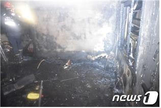 화재현장(서울 영등포소방서 제공).© News1