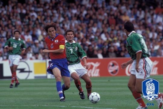 가장 높은 시청률을 보였던 98년 월드컵 멕시코전 /사진=대한축구협회 제공