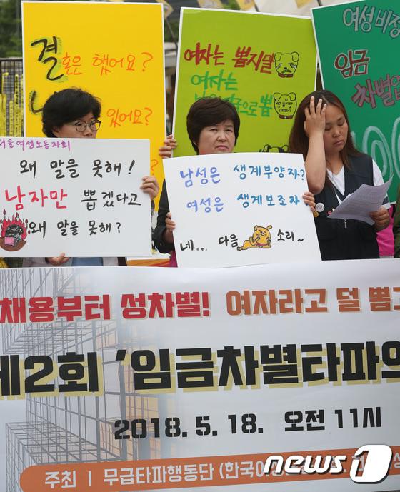 [사진]'임금차별  타파하자'