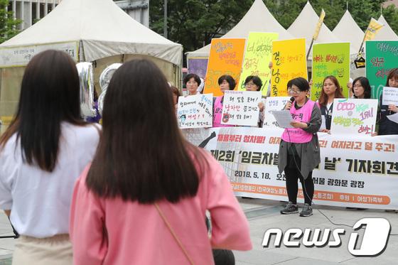 [사진]'여성 임금차별에 벌써부터 걱정이'