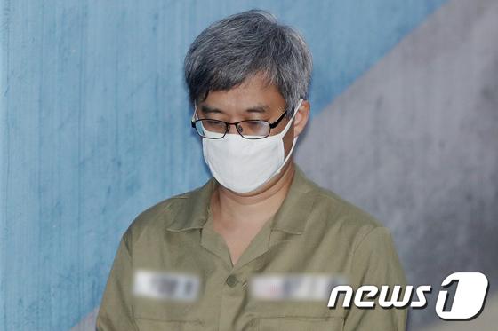 '민주당원 댓글 조작' 사건으로 재판에 넘겨진 주범 '드루킹' 김모씨(48). 2018.5.16/뉴스1 © News1 민경석 기자