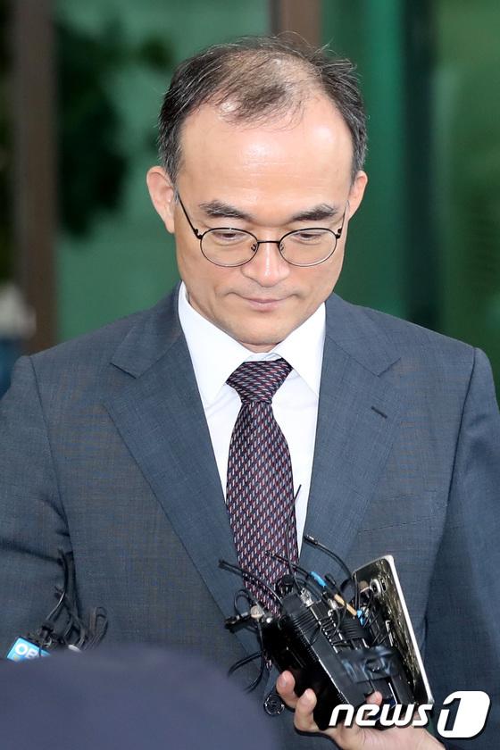 [사진]'강원랜드 채용비리 수사외압' 의혹에 고개 숙인 문무일 검찰총장