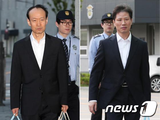 [사진]'국정원 특활비 수수혐의' 이재만-안봉근 '석방'