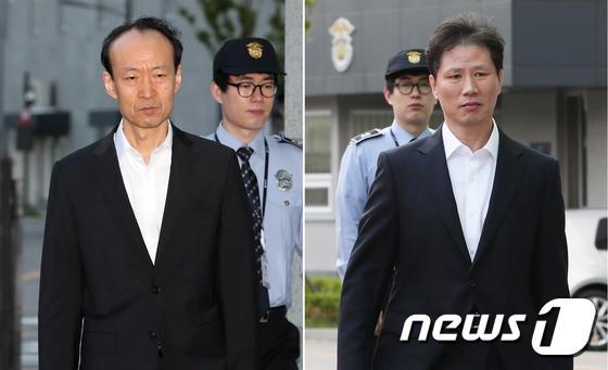 [사진]'국정원 특활비 수수혐의' 보석으로 석방된 이재만-안봉근