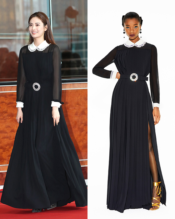 """나나, 단아한 블랙 드레스 자태…""""모델은 어떻게 입었나?"""""""